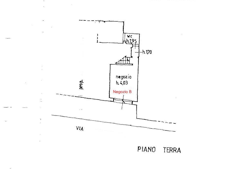 Planimetria Negozio B