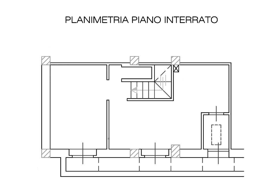 Planimetria piano interrato