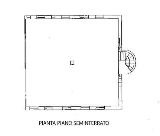 Piantina seminterrato